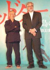 (左から)鈴木敏夫プロデューサー、マイケル・デュドク・ドゥ・ヴィット監督 (C)ORICON NewS inc.