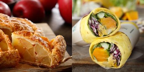 9月1日から登場する『アップルパイ』と『サラダップ パンプキン&クリームチーズ』