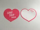 メッセージカードに愛の告白を書いて現地のメッセージBOXに投函すると、メンバーのSNSに掲載されるかも!?