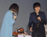 映画『四月は君の嘘』公開直前イベントに出席した(左から)広瀬すず、山崎賢人 (C)ORICON NewS inc.