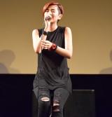 映画『淵に立つ』の完成披露舞台あいさつで主題歌を披露したHARUHI (C)ORICON NewS inc.