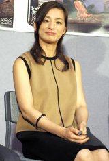 ドラマ『夏目漱石の妻』試写会に出席した漱石の妻・鏡子役の尾野真千子 (C)ORICON NewS inc.