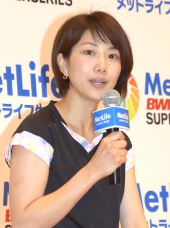 『メットライフ生命 バドミントンファミリーデー』に参加した潮田玲子