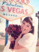 ラスベガスでの結婚式で着用したウエディングドレス姿を公開した千秋