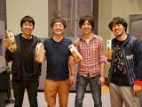 スキマスイッチの新曲は奥田民生(左から2人目)プロデュースの「全力少年」