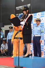 東京・渋谷警察署で一日警察署長を務めた桜井日奈子 (C)ORICON NewS inc.