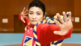 ALSOK新CM「ALSOK 歌舞伎」篇で力強いダンスを披露する伊調馨選手