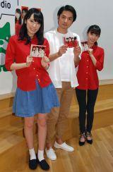 AbemaTV『西浦秀樹のめざせ紅白!』CDリリース記念公開生放送に出演した(写真左から松井咲子、西浦秀樹、片山陽加 (C)ORICON NewS inc.