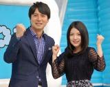 『ZIP!』の総合司会を務める(左から)桝太一アナ、川島海荷 (C)ORICON NewS inc.