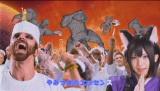 """Web限定動画で対立する""""チキン派隊長""""のレディビアードと""""サンド派隊長""""のえなこ"""