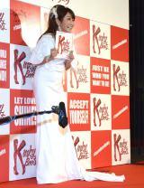 ブロードウェイミュージカル『キンキーブーツ』初日レッドカーペットに登場したはるな愛 (C)ORICON NewS inc.
