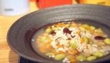 もち麦とお豆のスープリゾット