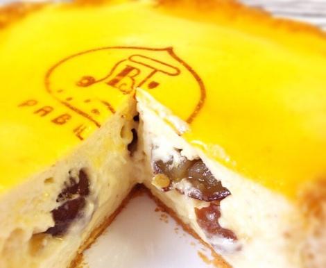 「パブロ」の秋タルト『焼きたてマロンチーズタルト』を食べてみた! (C)oricon ME inc.