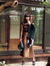 『otona MUSE』(宝島社)でFENDIの新作を着こなした山田優