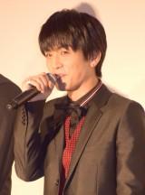 映画『HiGH&LOW THE RED RAIN』初日舞台あいさつに出席した岩田剛典 (C)ORICON NewS inc.