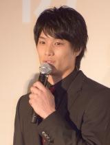 映画『HiGH&LOW THE RED RAIN』初日舞台あいさつに出席した鈴木伸之 (C)ORICON NewS inc.