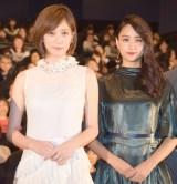 映画『少女』初日舞台あいさつに出席した(左から)本田翼、山本美月 (C)ORICON NewS inc.