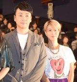 映画『少女』初日舞台あいさつに出席した(左から)児嶋一哉、三島有紀子監督 (C)ORICON NewS inc.