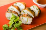 「お魚と海老のパクチー入りさつま揚げ」500円