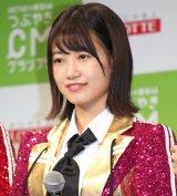 『HKT48vs欅坂46 つぶやきCMグランプリ』開催発表記者会見を行ったHKT48・朝長美桜 (C)ORICON NewS inc.