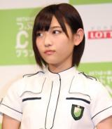 『HKT48vs欅坂46 つぶやきCMグランプリ』開催発表記者会見を行った欅坂46・志田愛佳 (C)ORICON NewS inc.