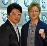 (左から)哀川翔、つるの剛士 (C)ORICON NewS inc.