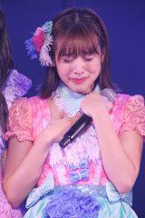 最初で最後のAKB48劇場凱旋公演で涙する仲川遥香(C)JKT48 Project