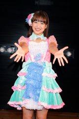 JKT48初のAKB48劇場出張公演『仲川遥香、ありがとうを伝えに来ました。with JKT48』終演後に囲み取材に応じた仲川遥香(C)JKT48 Project