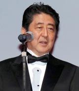 『第29回 東京国際映画祭(TIFF)』オープニングセレモニーに出席した安倍晋三首相 (C)ORICON NewS inc.