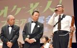 映画『オケ老人!』プレミア試写会に出席した(左から)左とん平、石倉三郎、荒川源 (C)ORICON NewS inc.