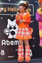 『AbemaTVハロウィンパーティー』に15年前のミニモニ。の衣装で登場した矢口真里 (C)ORICON NewS inc.