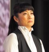 ABC創立65周年記念スペシャルドラマ『氷の轍』の制作発表会見に出席した余貴美子