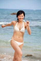 初グラビアを披露した『CanCam』モデルで現役女子高生の海老沼さくら(C)小学館・週刊ビッグコミックスピリッツ