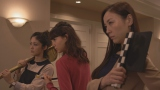読売テレビ・日本テレビ系連続ドラマ『黒い十人の女』に出演する(左から)平山あや、トリンドル玲奈、ちすん(C)読売テレビ