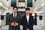 TBS系連続ドラマ『IQ246』で初共演を果たす(左から)織田裕二、成宮寛貴 (C)TBS