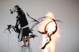 墨絵とCGが融合した「Live Paint」 (C)oricon ME inc.