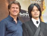 13年ぶりの再会を果たした(左から)トム・クルーズ、池松壮亮 (C)ORICON NewS inc.