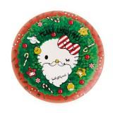 サンリオから発売されたクリスマス限定デザインアイテム『メラミンプレート(リース)』(756円)