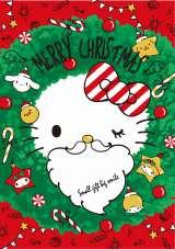 サンリオから発売されたクリスマス限定デザインアイテム『メラミンプレート(リース)』(756円)のデザインはコチラ!