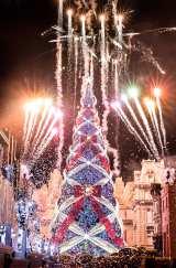 今年で見納めとなるUSJのクリスマスツリー 画像提供:ユニバーサル・スタジオ・ジャパン