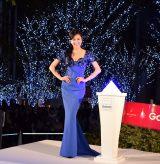 点灯式に合わせて青のドレスで登場した藤原紀香 (C)ORICON NewS inc.
