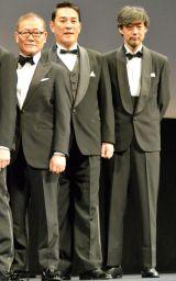 映画『海賊とよばれた男』舞台あいさつに登壇した(左から)國村隼、ピエール瀧、山崎貴監督 (C)ORICON NewS inc.
