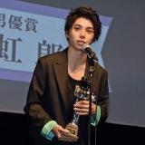 『第8回TAMA映画賞』本年度最も飛躍した男優、顕著な活躍をした新人男優に贈られる最優秀新進男優賞を受賞した村上虹郎(C)ORICON NewS inc.