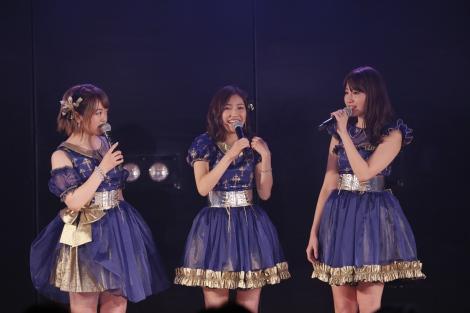 「小嶋陽菜好感度爆上げ公演」初日アンコールに駆けつけた渡辺麻友 (C)AKS