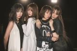 4人体制で初のシングルをリリースする夢みるアドレセンス(左から京佳、志田友美、荻野可鈴、山田朱莉)