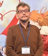 エヴァ劇場版については「頑張っています」と答えた庵野秀明氏 (C)ORICON NewS inc.