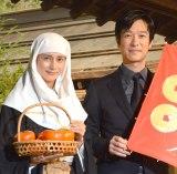 NHK大河ドラマ「バトンタッチセレモニー」に出席した(左から)柴咲コウ、堺雅人 (C)ORICON NewS inc.