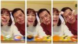 遠藤憲一と動画加工アプリ「egg」を使って遊んでいる動画をインスタグラムで公開した飯豊まりえ