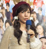 NHK新春SPドラマ『富士ファミリー2017』試写会後会見に出席した仲里依紗 (C)ORICON NewS inc.