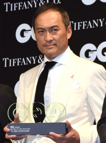 『GQ MEN OF THE YEAR 2016』授賞記者会見に出席した渡辺謙 (C)ORICON NewS inc.